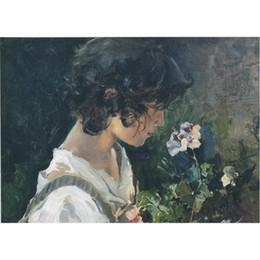 Joaquin Sorolla y Bastida peintures en vente fille italienne avec des fleurs toile moderne paysages peint à la main art ? partir de fabricateur
