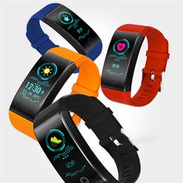 pulsera inteligente deportes android Rebajas QW18 Pulsera Inteligente Pulsera Deportiva Inteligente Rastreador de Sueño IP68 Pulso Reloj Smartband al aire libre pk fitbit STY171