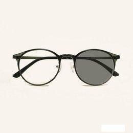 Óculos de carbono de tungstênio on-line-versão ultraleve coreana de aço carbono tungstênio luz moldura cinza óculos óculos de sol óculos de JW
