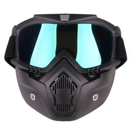 2019 máscara de protección contra el viento NUEVAS VENTAS CALIENTES Moto Unisex al aire libre Anti-impacto y Anti-viento Protección para los ojos Gafas Máscara Casco Ciclismo Accesorios rebajas máscara de protección contra el viento