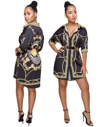 a83afff2fc5355 abiti da sera Sconti Camicia da donna Designer 19SS Abiti primavera estate  casual monopetto abito maniche
