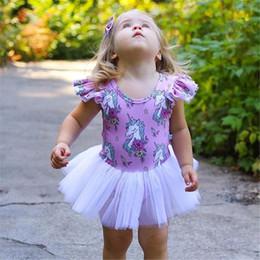 f1efef422c8bf robe d été bébé violet Promotion Bébé Fille Licorne Barboteuse Enfants Été  Violet Barboteuse Robe