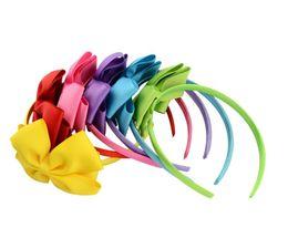 Extensiones de cabello para niños online-Accesorios para el cabello bowknot para el bebé del bebé del cordón grande de la flor del arco de la princesa de los bebés de la venda del pelo de la venda de la venda principal del bebé de los niños FZP232
