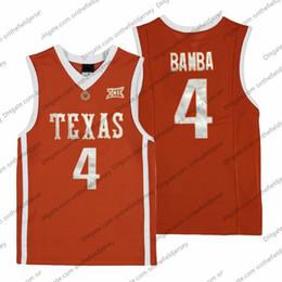 Texas Longhorns # 4 Mohamed Bamba Mo Retro Naranja Nombre Número Cosido NCAA College Basketball Jersey Barato Buena Calidad S-3XL desde fabricantes