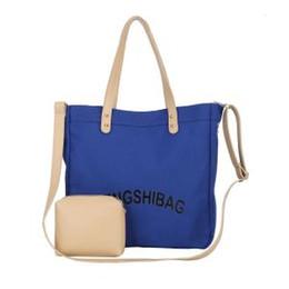 cf6106c823ef9 zusammengesetzte s Rabatt Frauen Canvas Handtaschen Verbund Tasche Große  Kapazität Geneigte Umhängetasche Weibliche Einzelner Schulterbeutel Freizeit