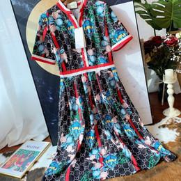 2019 vestido bordado simples Senhora saia senhoras maxi dress mangas compridas sra tendência de explosão simples casual super hot ny remendo bordado camisa vestido bordado simples barato