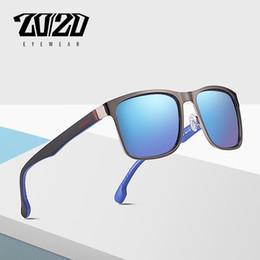 6dd094985e1 20 20 Brand Design Classic Polarized Sunglasses Men Driving Blue Lens Metal  Shades Gafas cuadradas para hombres Gafas PL367 Ofertas de gafas de sol de  color ...
