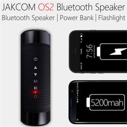 Montierte leuchten online-Jakcom OS2 Outdoor Bluetooth Lautsprecher Wasserdicht 5200mAh Energienbank Fahrrad Tragbarer Subwoofer Bass Lautsprecher LED Licht + Fahrradhalterung