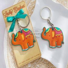 """Suena buena suerte online-20 UNIDS """"Lucky Elephant"""" Llavero llavero Baby Shower Favor de la Boda Regalo de Recepción Fiesta de Niños Buena Suerte"""