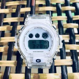 Нормальные часы онлайн-35-летие Прозрачный DW6900 Цифровые часы унисекс G DW5600 Водонепроницаемый и противоударный Светодиодный дисплей мирового времени Нормальный