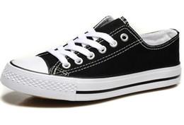 Обувь по цене онлайн-Горячая распродажа-заводская цена акционной цене! Femininas холст обувь женская и мужская, высокий / низкий стиль классические туфли холст кроссовки холст обувь