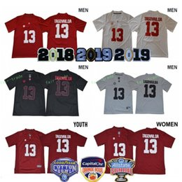 Men Women Kids Tua Tagovailoa Jerseys Woman 13 Alabama Crimson Tide 2018  Sugar 2019 Orange Bowl Patch Man Youth Football College Red White 789728a39