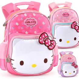 bolsa de laptop de couro rosa Desconto Bonito Doce Rosa Roxo Rosa Olá Kitty Mochila Mochilas Escolares para Crianças Meninas Crianças Do Jardim de Infância Pré-escolar Escola Saco Da Criança