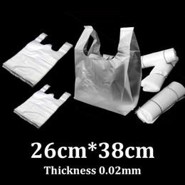 2019 мини мешочки 26x38cm переносной жилет сумка PE ясные супермаркет пластиковый мешок для покупок