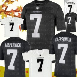 a46030539eb IMWITHKAP 7 Colin Kaepernick Jersey I M WITH KAP Mens Black White Double  Stiched Name & Number High Quanlity Football Jerseys kaepernick jersey for  sale