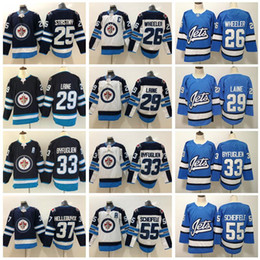 Blake wheeler jersey online-Winnipeg Jets 29 Patrik Laine-Trikot 26 Blake Wheeler Dustin Byfuglien Mark Scheifele Paul Stastny Connor Hellebuyck Eishockey Herren Kinder Blau
