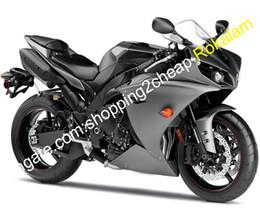 grigio nero r1 Sconti YZF1000 Grigio Nero Moto Yamaha R1 YZF 1000 2012 2013 2014 YZFR1 YZF R1 Moto carenatura Set (iniezione)