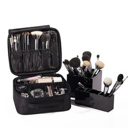 cosmetics vanity bags Coupons - Women's Professional Vanity Cosmetic Bag Organizer Women Travel Make Up Cases Big Capacity Cosmetics Suitcases For Makeup