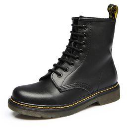 2019 bottes de moto à vent 2019 dames bottes chaussures en cuir britannique vent extérieur hiver haute aide bottes de moto occasionnels automne cuir usure chaussures antidérapantes promotion bottes de moto à vent