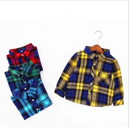 2019 colete longo coreano da luva Meninos camisa de manga comprida primavera e outono das crianças camisas infantis lapela camisa infantil 2019 nova versão coreana da maré colete longo coreano da luva barato