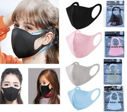 Máscara de proteção para o nariz on-line-New Mouth Face Mask Black Cotton Blend Anti Dust And Nose Protection Mask Fashion Masks For Man Women Kids or Disposable Mask HH9-3002