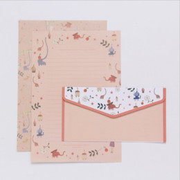 2019 cartas de sobres Papel de carta pequeña literki Set Sobres Creative Retro Cartoon Small Flower Envelope Set Sobres para letras Útiles escolares rebajas cartas de sobres