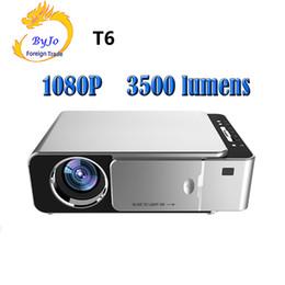 Hdmi pour le projecteur en Ligne-2019 New Original T6 1280x720 Projecteur LED 3500 lumens Projecteur courte focale Correction trapézoïdale USB HDMI VGA AV Cinéma maison