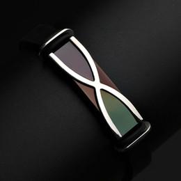 2019 coole herren armbänder leder Mens Cool Design Hochwertige Edelstahl Bettelarmband Leder und Silikon Kette Armband Armreif zum Verkauf rabatt coole herren armbänder leder