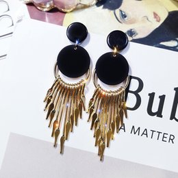 72c0136c9 Retro-circular 100-fold hyperbole long tassel earrings 2019 new stylish  personality earrings ear pendant