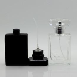 Bottiglia spray atomizzatore di viaggio online-Bottiglia di vetro trasparente 30ml Bottiglia vuota di spray atomizzatore di profumo Bottiglia spray Bottiglia di profumo da viaggio portatile RRA1317