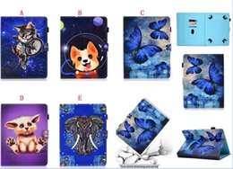 tier tabletten fällen Rabatt Universal Cartoon Leder Brieftasche für 7 8 10 Zoll Tablet Samsung Galaxy Tab iPad Tablet PC Eule Panda Hund Elefant Tierhaut Abdeckung