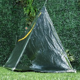 wholesale survival tent Promo Codes - Camping Portable Tent Emergency Waterproof Survival Tube Tent Thermal Reflective Cold Weather Shelters
