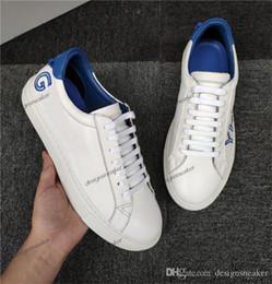 2020 zapatos casuales bajos de cuero puro Marca París diseños del zapato con cordones de los zapatos ocasionales zapatos de boda de lujo del partido escotado de color de la zapatilla de deporte de cuero puro de los zapatos de lona zapatos casuales bajos de cuero puro baratos