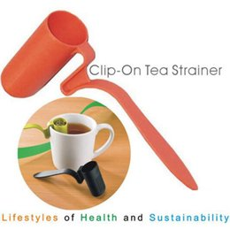 Cucchiai di silicone online-Bustina di tè in silicone Infusore Cucchiaino per foglie allentate Cucchiaio riutilizzabile Infusore Cucchiaino Colini da tè Strumenti 3 colori ZZA1087