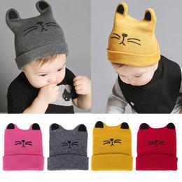 2019 chapéus bonitos da forma para meninas Moda Quente Bonés de Bebê Bonito Orelha de Gato Recém-nascido Chapéu De Malha Beanie Caps Infantis Crianças Meninos Meninas Dos Desenhos Animados Caps chapéus bonitos da forma para meninas barato