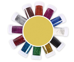 shimmer dusting powder Coupons - 12Colors Nail Art Glitter Powder Mix Glitter Multi Purpose Glitter Shimmer Dust Powder tumbler use Custom supplies diy supplies
