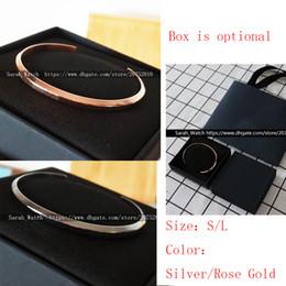 manchette large en argent sterling Promotion Promotion! Bracelet en acier inoxydable Bracelet or / argent Femmes / Hommes Bracelets pulsera