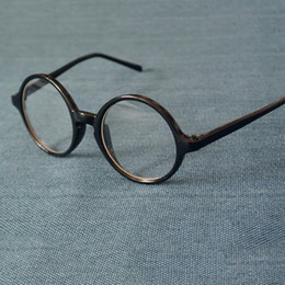 occhiali neri uomini neri Sconti Cubojue Round Glasses Uomo Donna Occhiali da vista Frame Nero Trasparente Piccolo 43-58mm Occhiali da vista Nerd con lente