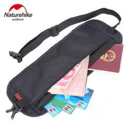 Mudar de cinto on-line-NatureHike Cintura Bolsa de Viagem Cintura Cinto Bolsa de Dinheiro Carteira Sacos de Passaporte Titulares Alterar Alça Segura