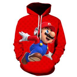 2020 super felpe 2019 Autunno Nuovo stile Felpe 3d Cartoon Super Mario Felpa con cappuccio stampa 3D Felpa Pullover casual Giacca 3d Cappotto S-6XL SH190905 sconti super felpe