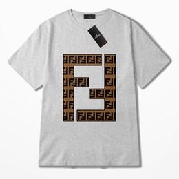 2019 marca de ropa deportiva de los hombres de la nueva letra de impresión damas cuello redondo manga corta diseñador moda casual lujo pareja camisa S-2XL f desde fabricantes