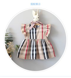 vestido de rayas rojas blancas para niños Rebajas vestidos de moda para niñas verano para niñas bebés Plaid derss niñas recién nacidas vestido de verano niños princesa vestido de bebé.