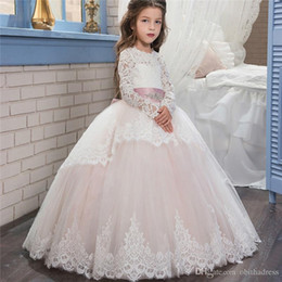 45195e05234 Discount small girls wedding dresses - Sweet Flower Girl Dresses Lace Bow  Small Tail Girl Princess