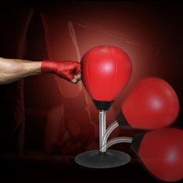2020 esportes de alta velocidade Albreda alta qualidade Secretária Boxe Punching Bag Speed Ball Bolsas PU Soco Training Academia Gym Sports Estresse Prático lançamento T191230 esportes de alta velocidade barato