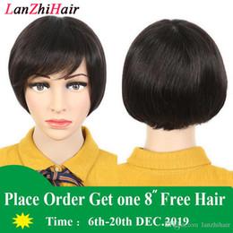 Le donne completa 9A parrucche Bob taglio di capelli umani parrucca piena del merletto per Black Culticle caschetto corto Nessuno del merletto per le donne nere da