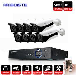 2019 vista remota dvr Sistema di telecamere di sicurezza HKIXDISTE 5.0MP Kit di videosorveglianza CCTV da 5 megapixel 8CH DVR Kit di uscita video 1944P Telecamera TVCC Easy Remote View P2P vista remota dvr economici