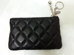 Clássicos femininos Bolsas Coin Plain Couro Genuíno carteira zero moda treliça de diamantes Fio Design mais bolsa zip cor com caixa original de