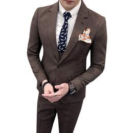 lässige tuxedo styles Rabatt Neueste Designs Mann Anzug Prom Smoking Slim Fit 3 Stück Britischen stil Formal Business Casual Klassische Bräutigam Hochzeitsanzüge Für Männer
