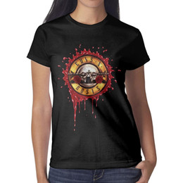 n vidéos Promotion Guns-Love-n'-Skulls-roses Bienvenue sur les vidéos T-shirts personnalisés à manches courtes de la marque Black Tops femme