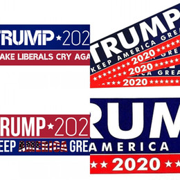 make car stickers Promo Codes - PVC Non Drying Glue Sticker TRUMP 2020 MAKE LIBERALS CRY AGAIN Pattern Paster Rectangle Bicolor Car Stickers 2 2jw L1